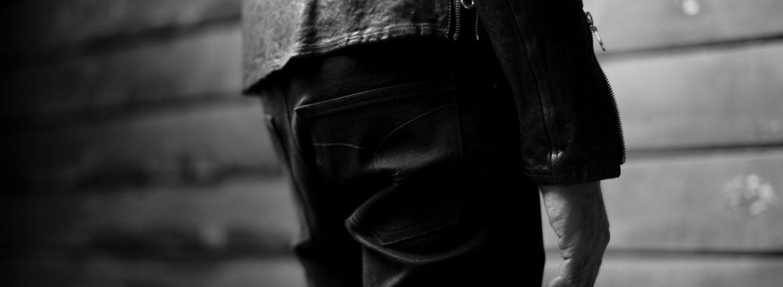 ISAMU KATAYAMA BACKLASH Black Denim BLACK 2021 【Special Model】【Alto e Diritto別注】イサムカタヤマ バックラッシュ ストレッチ デニムパンツ クラッシュデニム ブラック ブラックデニム 黒デニム ブラックデニムパンツ 愛知 名古屋 Alto e Diritto altoediritto アルトエデリット