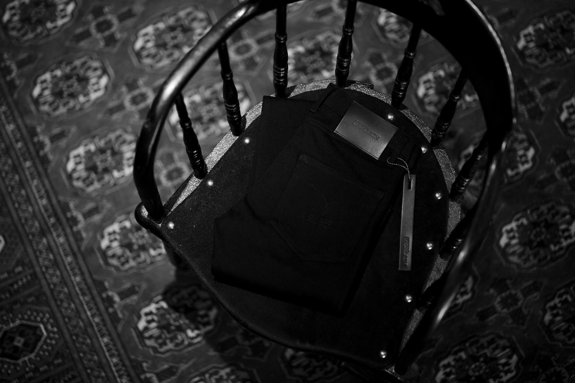 "ISAMU KATAYAMA BACKLASH ""Black Denim"" BLACK 2021 【Special Model】【Alto e Diritto別注】イサムカタヤマ バックラッシュ ストレッチ デニムパンツ クラッシュデニム ブラック ブラックデニム 黒デニム ブラックデニムパンツ 愛知 名古屋 Alto e Diritto altoediritto アルトエデリット"