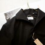 Massimo d'Augusto × cuervo bopoha (マッシモ ダウグスト × クエルボ ヴァローナ) リネンコットン ワンピースカラー シャツ BLACK (ブラック・10) made in italy (イタリア製) 2021 春夏新作 【入荷しました】【フリー分発売開始】のイメージ