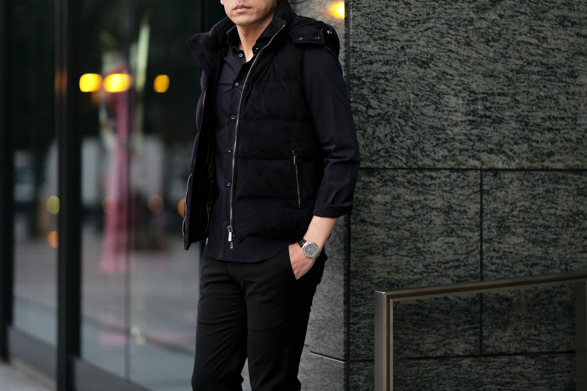 MOORER (ムーレー) FAYER-UR (フェイヤー) Suede Leather Down Vest スエードレザー ダウンベスト BLU (ネイビー) Made in italy (イタリア製) 2021 秋冬 【Alto e Diritto別注】【Special Special Special Model】【ご予約開始】愛知 名古屋 Alto e Diritto altoediritto アルトエデリット レザーベスト