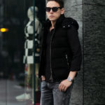 MOORER (ムーレー) FAYER-UR (フェイヤー) Suede Leather Down Vest スエードレザー ダウンベスト NERO (ブラック) Made in italy (イタリア製) 2021 秋冬 【Alto e Diritto別注】【Special Special Special Model】【ご予約開始】愛知 名古屋 Alto e Diritto altoediritto アルトエデリット レザーベスト