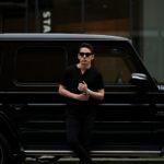 nomiamo (ノミアモ) SUPIMA 80/1 Key Neck T-shirt スーピマコットン キーネック Tシャツ BLACK (ブラック) 2021 春夏 【Alto e Diritto別注】【Special限定モデル】のイメージ