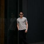 nomiamo (ノミアモ) SUPIMA 80/1 Key Neck T-shirt スーピマコットン キーネック Tシャツ GREGE (グレージュ) 2021 春夏 【Alto e Diritto別注】【Special限定モデル】のイメージ