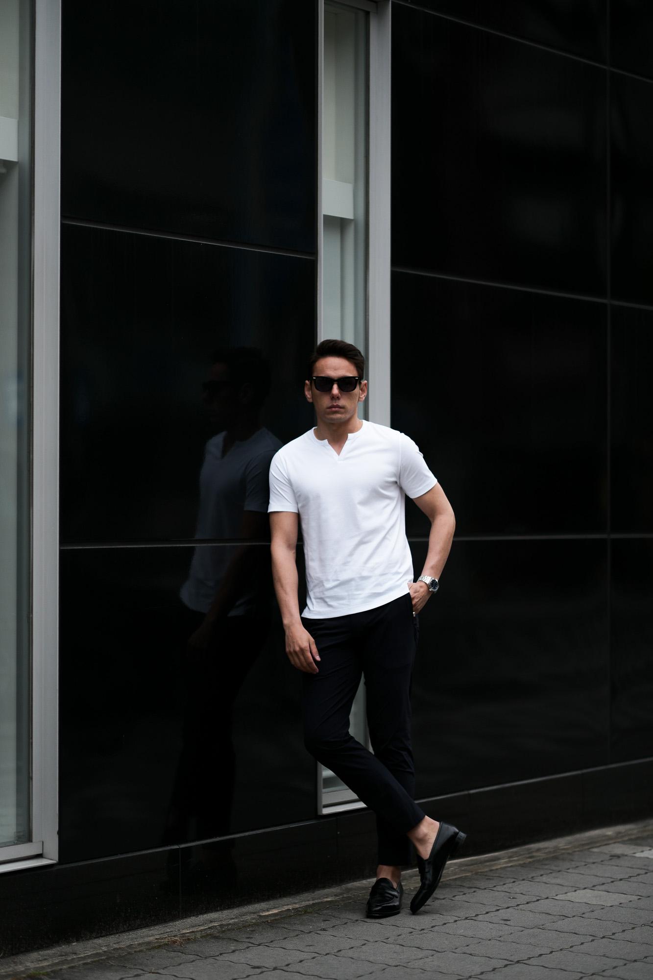nomiamo (ノミアモ) SUPIMA 80/1 Key Neck T-shirt スーピマコットン キーネック Tシャツ WHITE (ホワイト) 2021 春夏 【Alto e Diritto別注】【Special限定モデル】【ご予約開始】愛知 名古屋 Altoediritto アルトエデリット カットソー 半袖Tシャツ