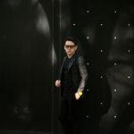 TAGLIATORE (タリアトーレ) PINO LERARIO (ピーノ レラリオ) グレンチェック シングル ピークドラペル ジャケット BLACK (ブラック) Made in italy (イタリア製) 2021秋冬 【ご予約受付中】のイメージ