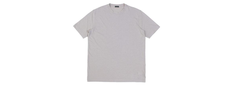 ZANONE (ザノーネ) Crew Neck T-shirt (クルーネックTシャツ) ice cotton アイスコットン Tシャツ GREGE (グレージュ・Z5252) MADE IN ITALY(イタリア製) 2021 春夏新作 愛知 名古屋 Alto e Diritto altoediritto アルトエデリット