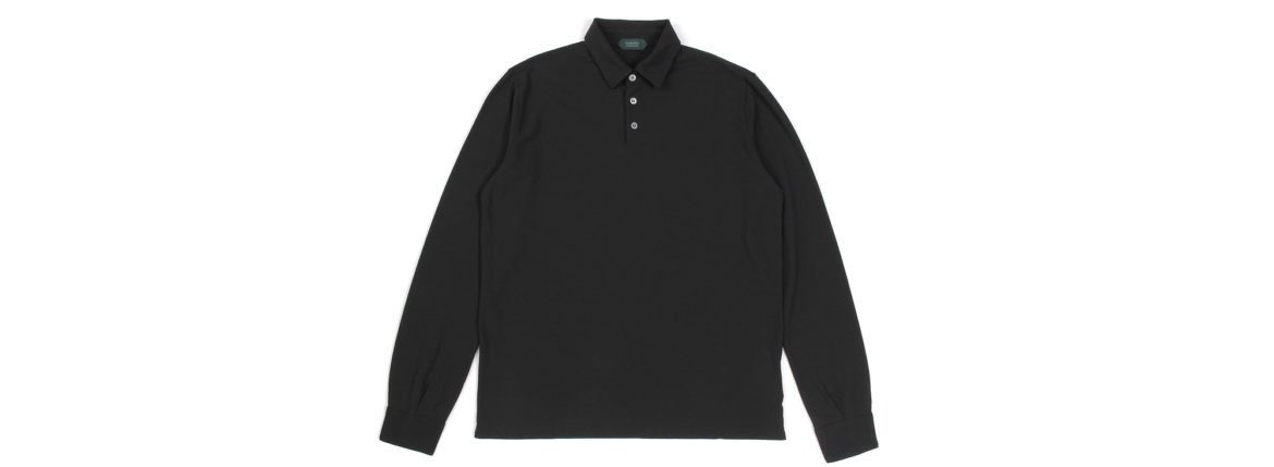 ZANONE (ザノーネ) Long Sleeve Polo Shirt (ロングスリーブ ポロシャツ) ice cotton アイスコットン ロングスリーブ ポロシャツ BLACK (ブラック・Z0015) MADE IN ITALY(イタリア製) 2021 春夏新作 愛知 名古屋 Alto e Diritto altoediritto アルトエデリット