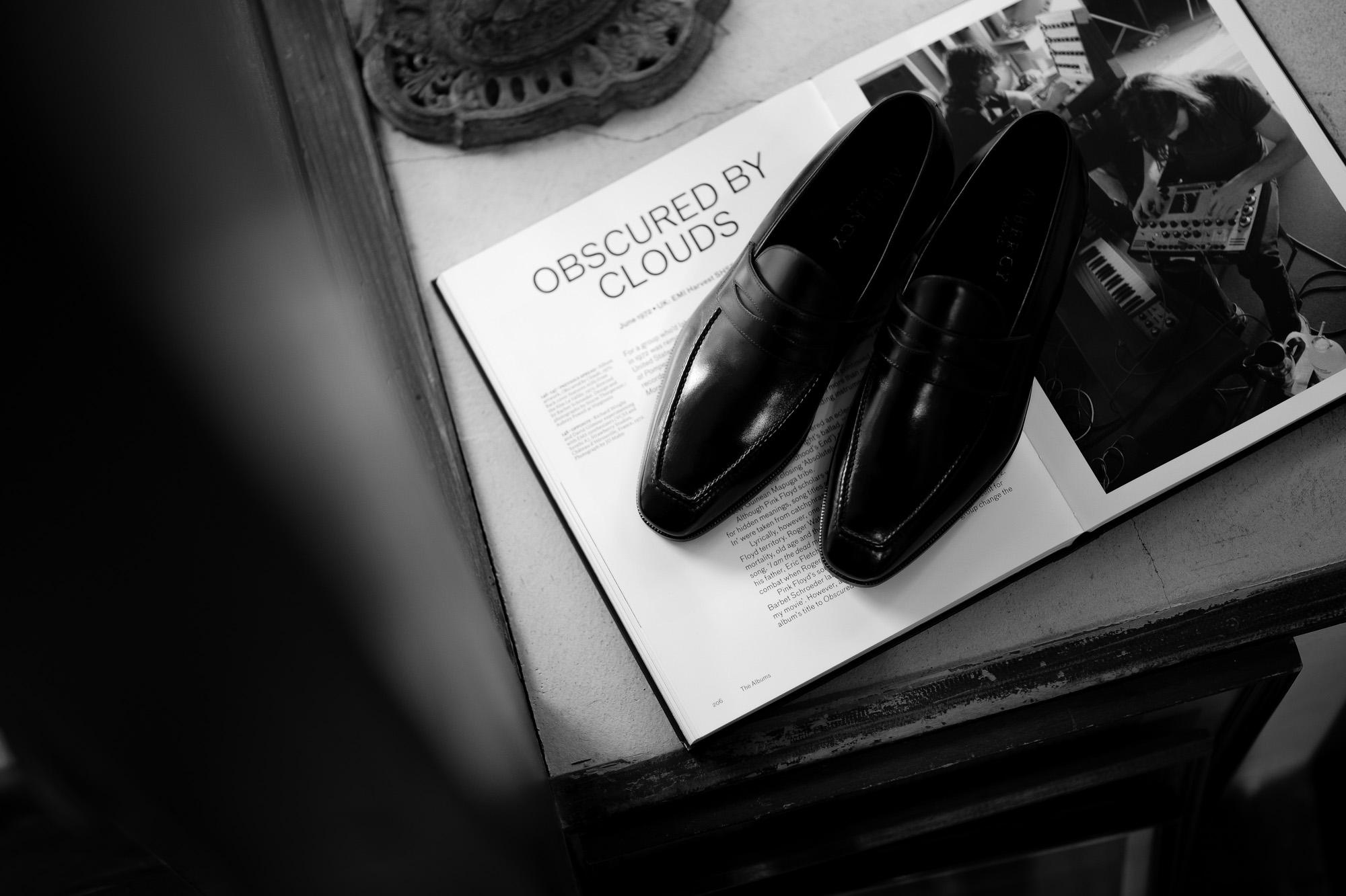 AUBERCY (オーベルシー) LUPIN 3565 Coin Loafer (ルパン) Du Puy Vitello デュプイ社ボックスカーフ ドレスシューズ ローファー NERO (ブラック) made in italy (イタリア製) 2021 オーベルシー ルパン ヴィッテロレザー カーフレザー コインローファー ブラック ローファー ドレスシューズ 日本代理店 愛知 名古屋 altoediritto アルトエデリット