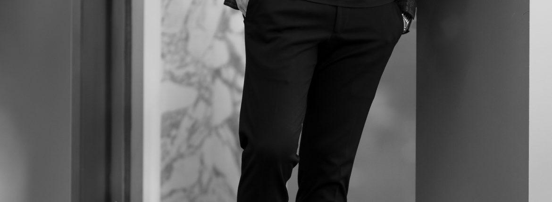 "cuervo bopoha ""Brad"" 2WAY LIGHT COMFORT JERSEY BLACK 2021AW クエルボヴァローナ ブラッド ジャージー スラックス ブラック 愛知 名古屋 Alto e Diritto altoediritto アルトエデリット 黒スラックス 秋冬スラックス ウールスラックス"