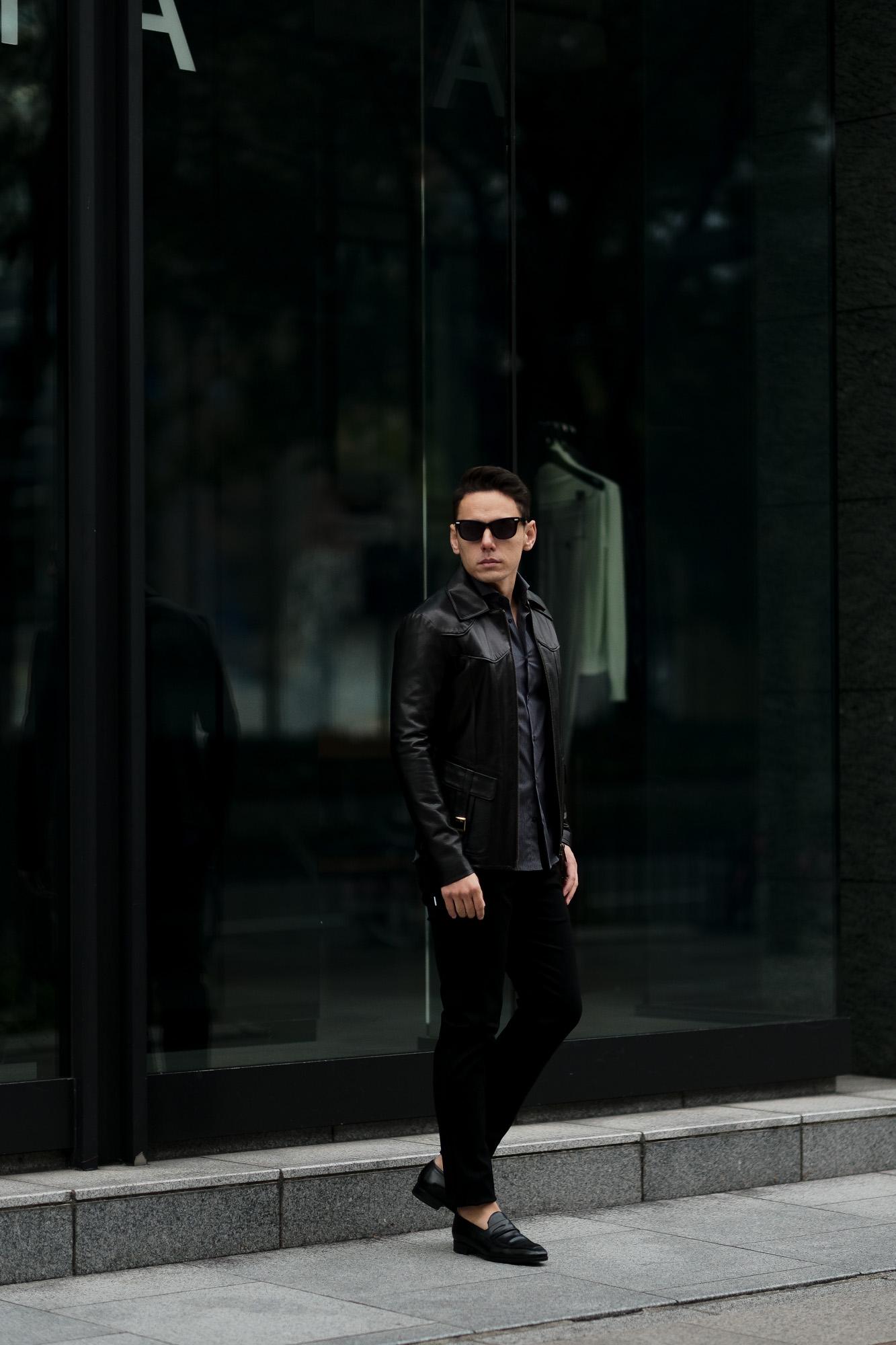 cuervo bopoha (クエルボ ヴァローナ) Satisfaction Leather Collection (サティスファクション レザー コレクション) East West(イーストウエスト)  SMOKE(スモーク) BUFFALO LEATHER (バッファロー レザー) レザージャケット BLACK(ブラック) MADE IN JAPAN (日本製) 2021 春夏新作 愛知 名古屋 altoediritto アルトエデリット レザージャケット サウスパラディソ eastwest