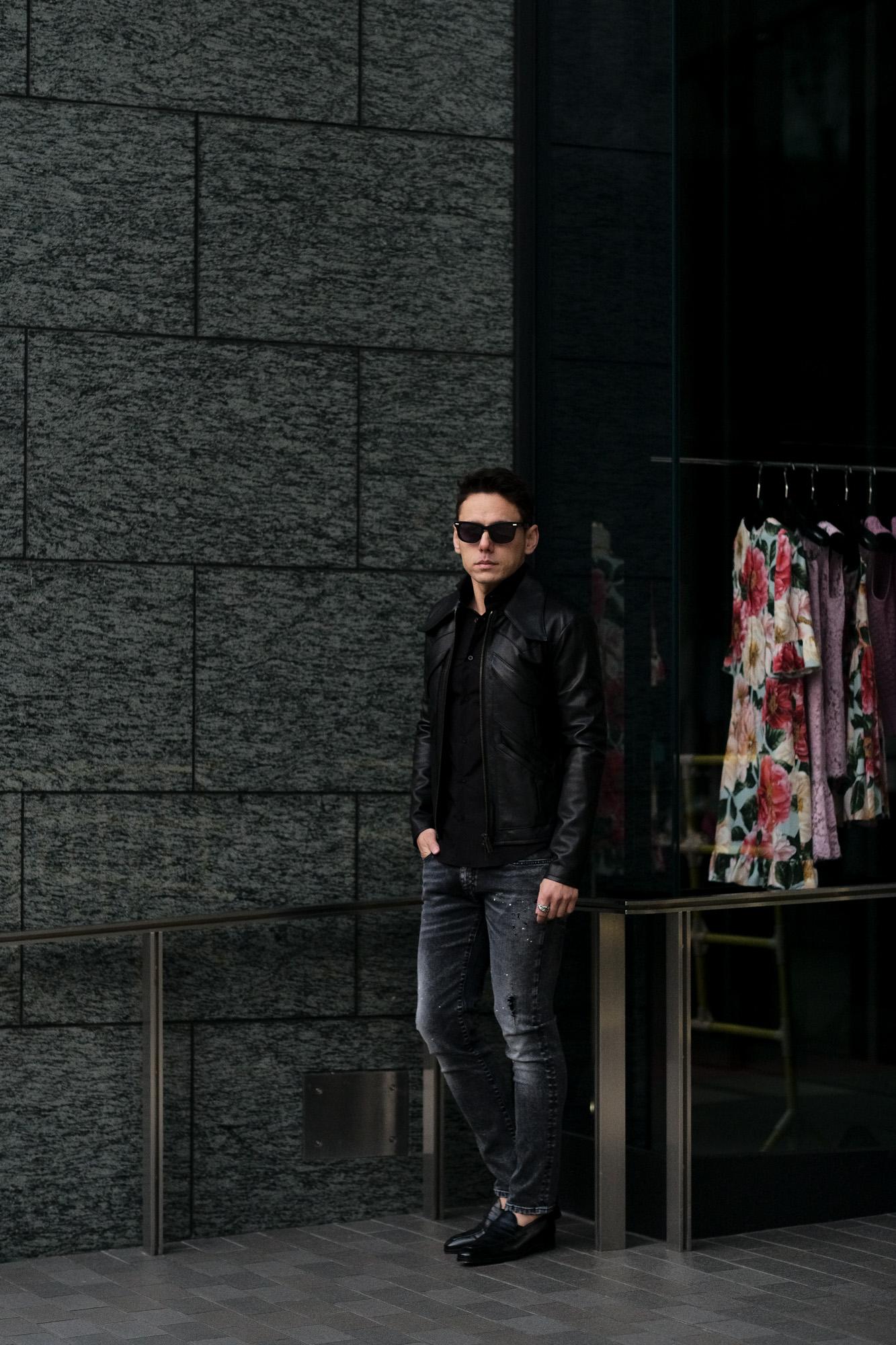 cuervo bopoha (クエルボ ヴァローナ) Satisfaction Leather Collection (サティスファクション レザー コレクション) East West (イーストウエスト) WINCHESTER (ウィンチェスター) BUFFALO LEATHER (バッファロー レザー) レザージャケット BLACK (ブラック) MADE IN JAPAN (日本製) 2021 愛知 名古屋 altoediritto アルトエデリット