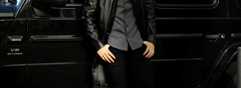 cuervo bopoha (クエルボ ヴァローナ) Satisfaction Leather Collection (サティスファクション レザー コレクション) Ferro (フェッロ) BUFFALO LEATHER (バッファロー レザー) レザー コート BLACK (ブラック) MADE IN JAPAN (日本製) 2021秋冬のイメージ