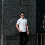 cuervo bopoha (クエルボ ヴァローナ) Sartoria Collection (サルトリア コレクション) Lewis (ルイス) GIZA45 ギザコットン Tシャツ WHITE (ホワイト) MADE IN JAPAN (日本製) 2021 春夏新作のイメージ
