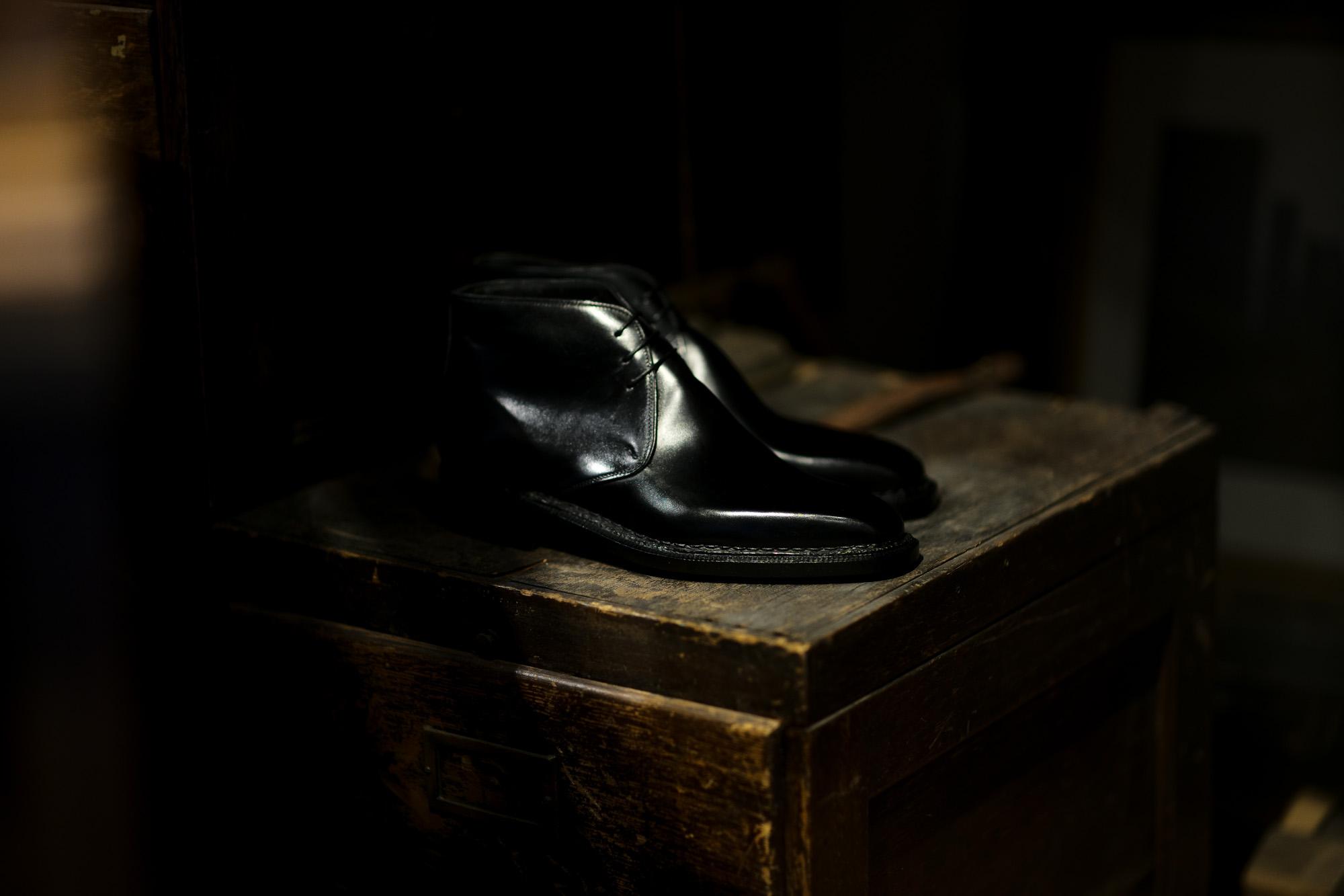 ENZO BONAFE (エンツォボナフェ) ART.3722 Chukka boots Du Puy Vitello デュプイ社ボックスカーフ チャッカブーツ NERO (ブラック) made in italy (イタリア製) 2021 愛知 名古屋 Alto e Diritto altoediritto アルトエデリット レザーブーツ