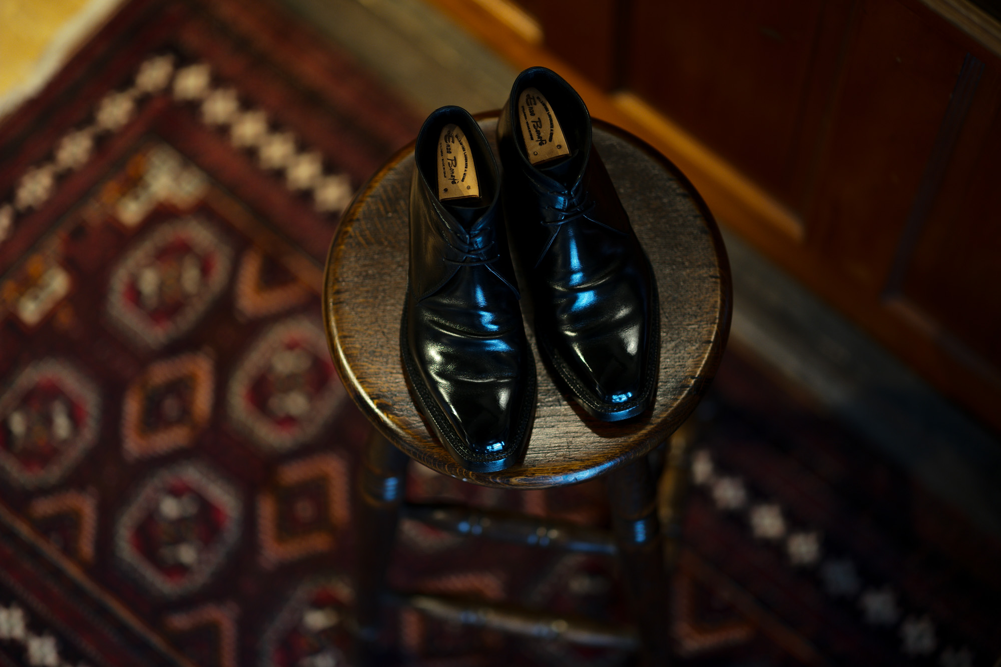 ENZO BONAFE ART.3722 Chukka boots Du Puy Vitello NERO 【My ART.3722】愛知 名古屋 Alto e Diritto altoediritto アルトエデリット エンツォボナフェ チャッカブーツ ボックスカーフ カーフレザー レザーブーツ ブラック 黒ブーツ