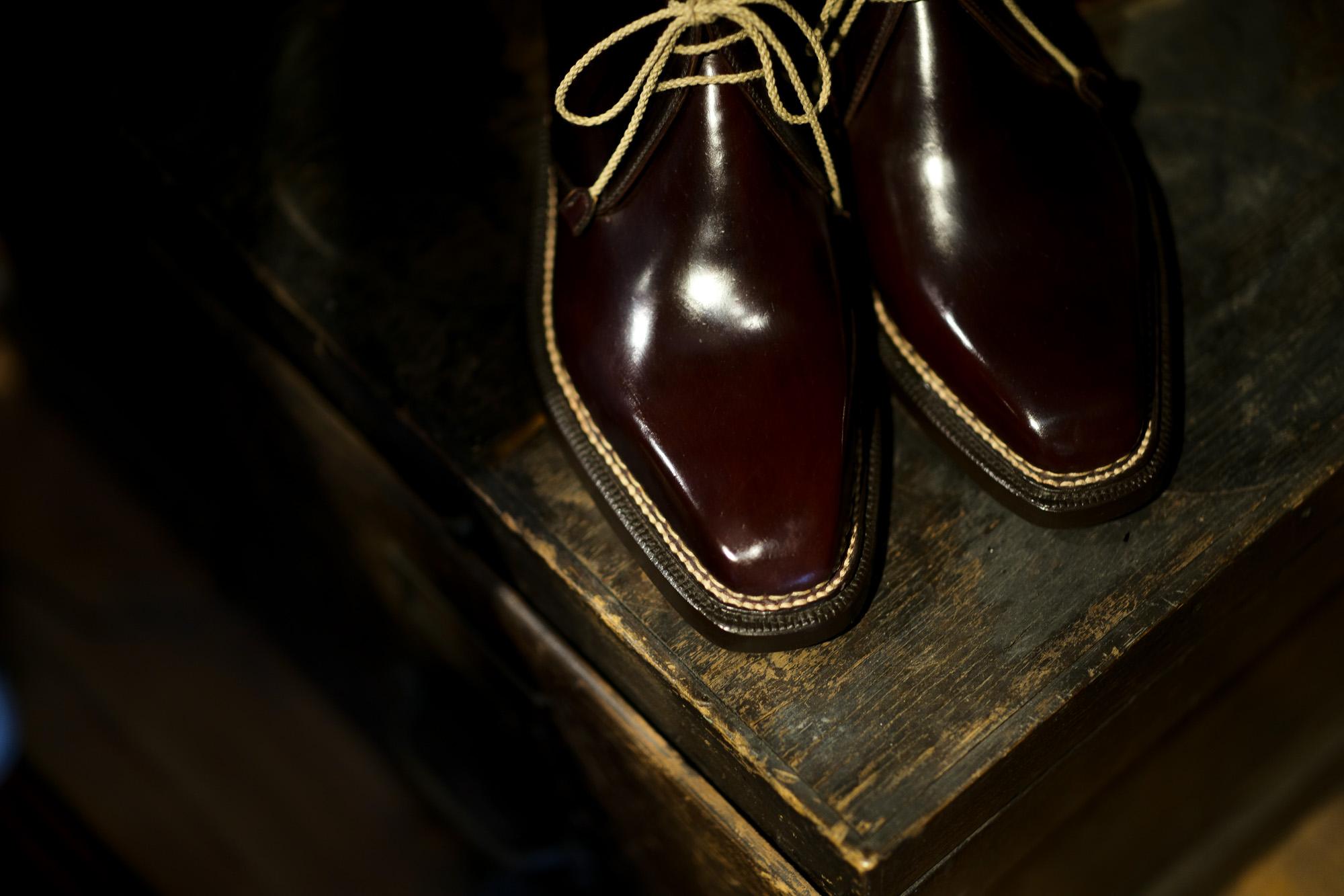 ENZO BONAFE(エンツォボナフェ) ART.3722 Chukka boots Horween Shell Cordovan Leather ホーウィン社 シェルコードバンレザー チャッカブーツ コードバンブーツ No.8(バーガンディー) made in italy (イタリア製) 2021 愛知 名古屋 Alto e Diritto altoediritto アルトエデリット レザーブーツ