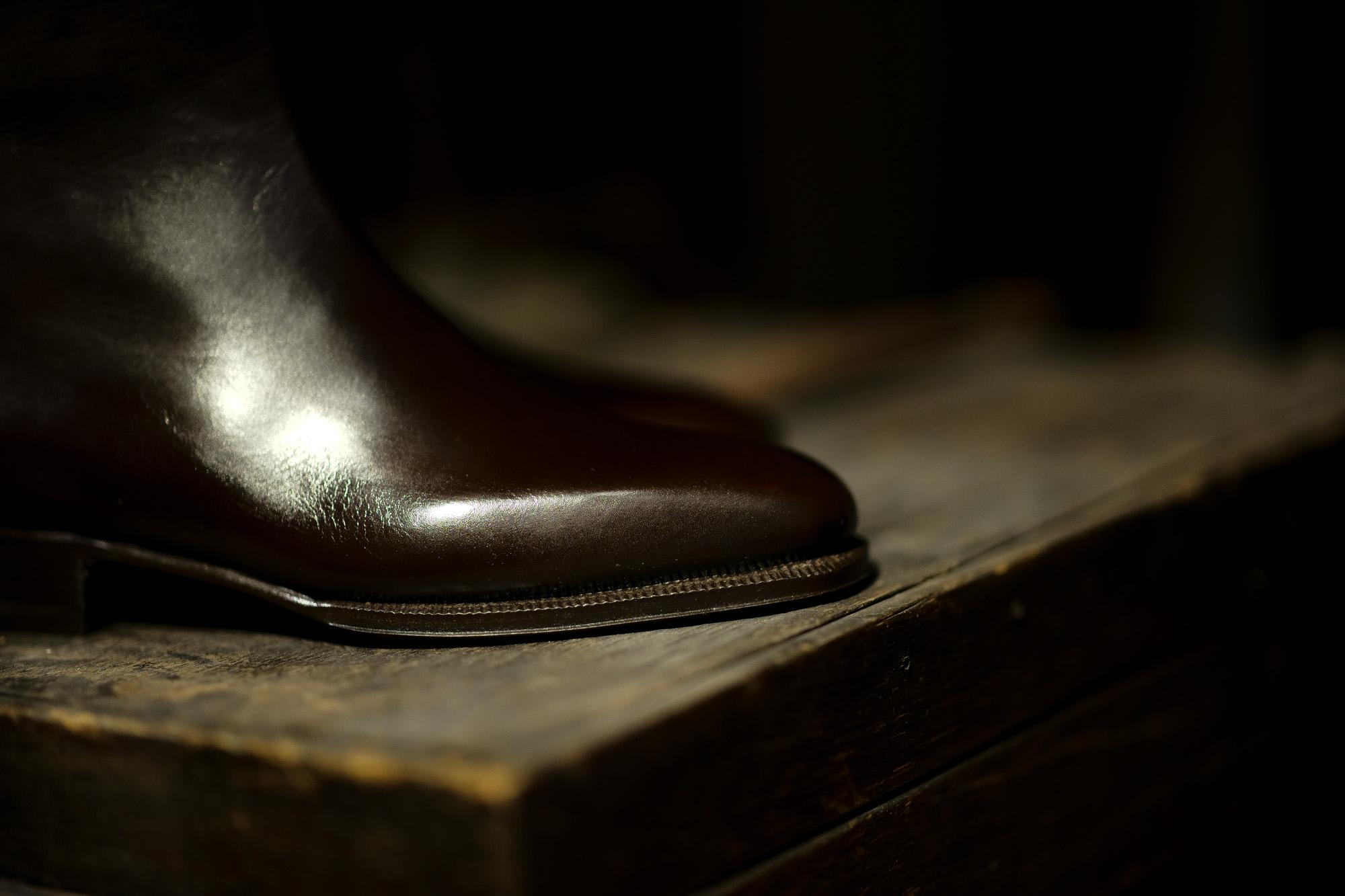 ENZO BONAFE(エンツォボナフェ) ART.3993 Zip up Boots ANILVEAU カーフレザー ジップアップブーツ DARK MELEZE (ブラウン) made in italy (イタリア製) 2021 愛知 名古屋 Alto e Diritto altoediritto アルトエデリット レザーブーツ