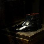 ENZO BONAFE(エンツォボナフェ) ART.3995 Double strap boot Du Puy Vitello デュプイ社ボックスカーフ ダブルストラップブーツ NERO (ブラック) made in italy (イタリア製) 2021のイメージ