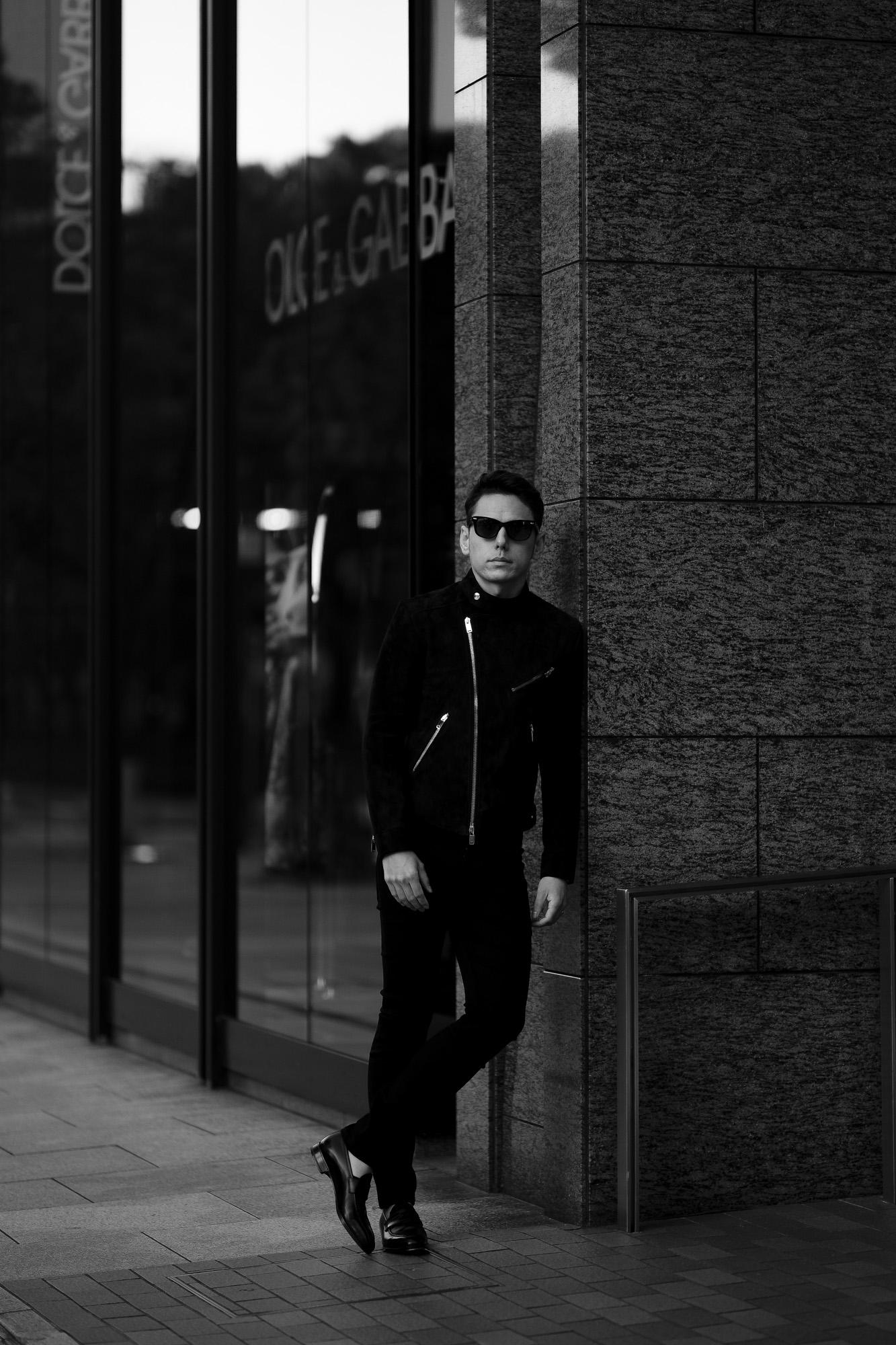 FIXER(フィクサー) F1(エフワン) DOUBLE RIDERS Cashmere Suede Leather ダブルライダース ジャケット BLACK(ブラック)【ご予約開始します】【2021.5.29(Sat)~2021.6.13(Sun)】 愛知 名古屋 Alto e Diritto altoediritto アルトエデリット レザージャケット ダブルレザー