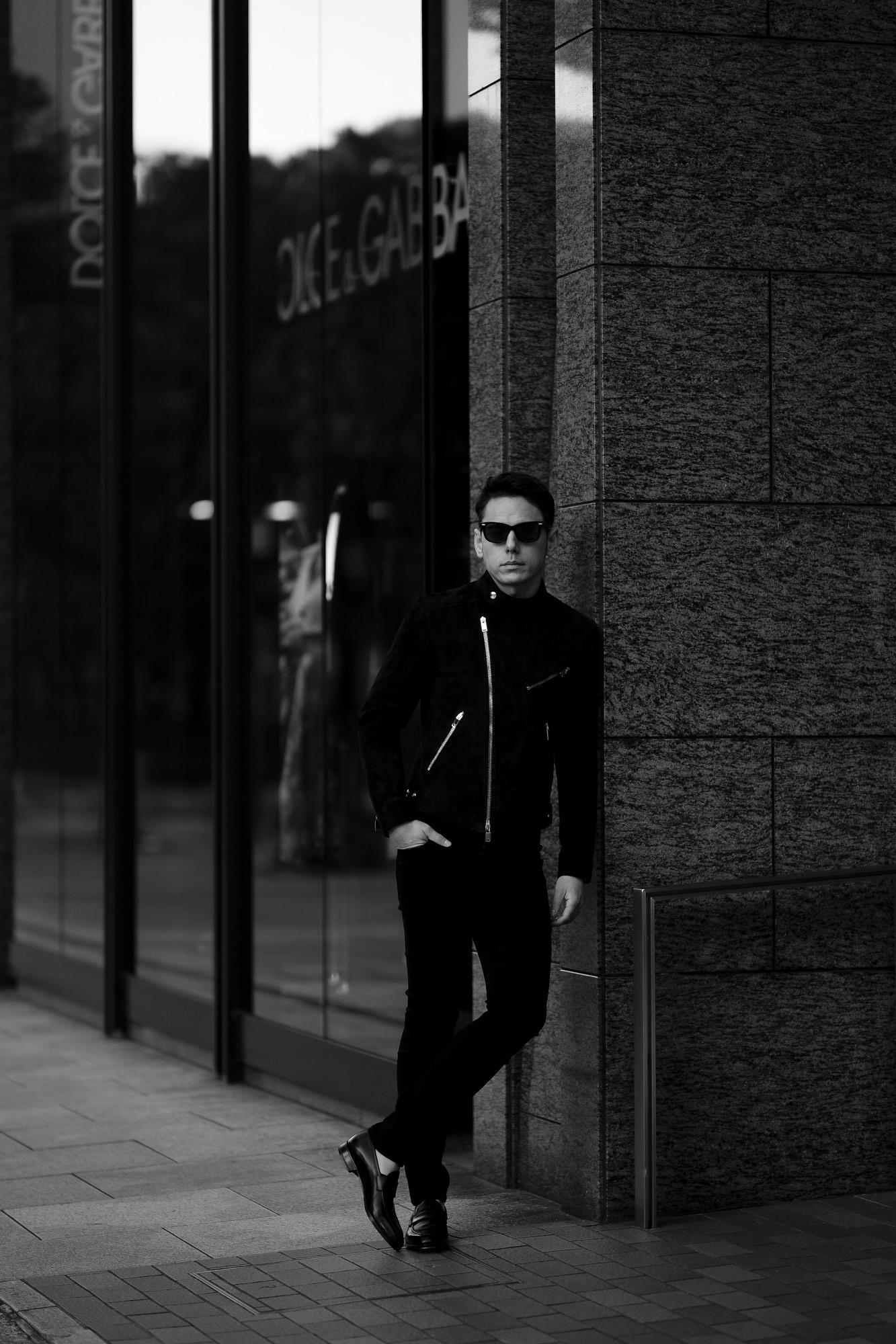 FIXER(フィクサー) F1(エフワン) DOUBLE RIDERS Cashmere Suede Leather ダブルライダース ジャケット BLACK(ブラック)  愛知 名古屋 Alto e Diritto altoediritto アルトエデリット レザージャケット ダブルレザー セミダブルライダース