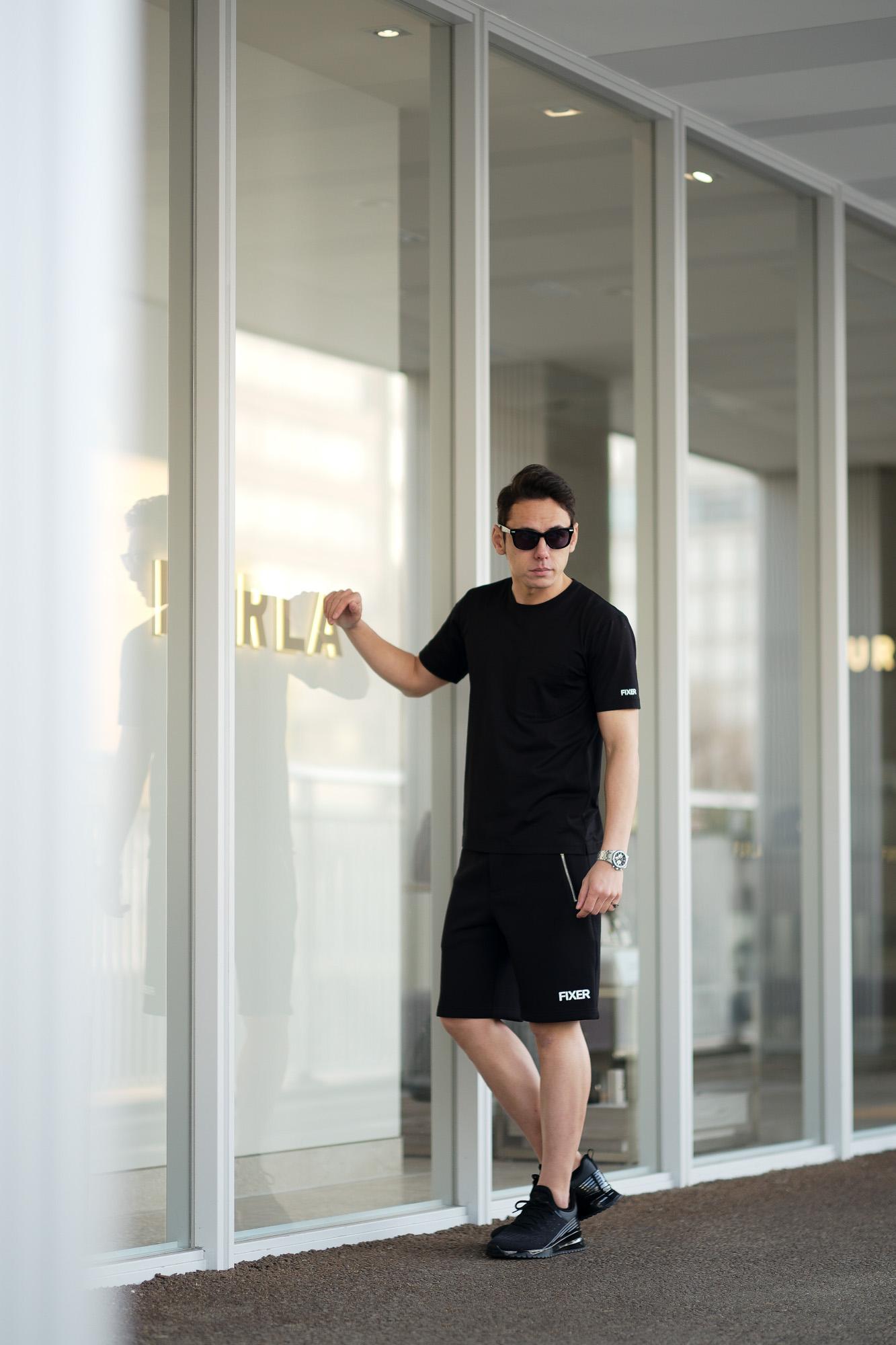 FIXER (フィクサー) FPT-02(エフピーティー02) Technical Jersey Short Pants テクニカルジャージー ショートパンツ BLACK (ブラック) 【ご予約開始】【2021.5.02(Sun)~2021.5.16(Sun)】愛知 名古屋 Alto e Diritto altoediritto アルトエデリット ショーツ