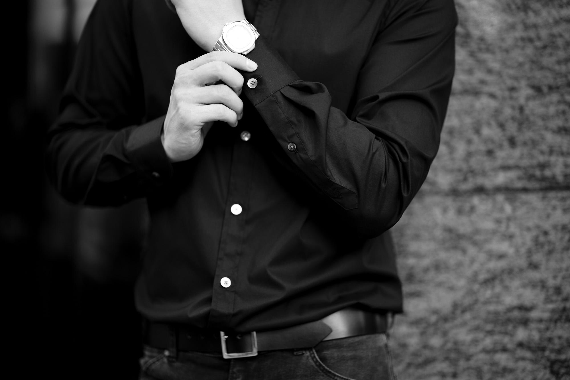 FIXER FST-01 フィクサー エフエスティー01 SHIRTS シャツ COTTON STRETCH コットンストレット BLACK ブラック ブラックシャツ 黒シャツ 愛知 名古屋 Alto e Diritto altoediritto アルトエデリット シャツ 黒シャツ