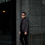 ISAIA (イザイア) POMPEI (ポンペイ) ウールシルクリネン グレンチェック サマー ジャケット BLACK (ブラック・990) Made in italy (イタリア製) 2021 春夏新作のイメージ