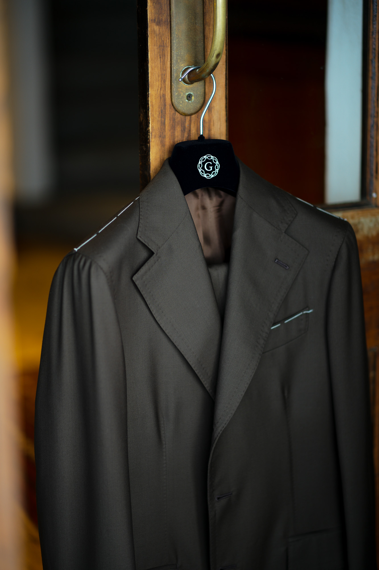 LUCA GRASSIA (ルカ グラシア) SALVATORE ENRICO (サルヴァトーレ エンリコ) サージウール スーツ BROWN (ブラウン) Made in italy (イタリア製) 2021秋冬 愛知 名古屋 Alto e Diritto altoediritto アルトエデリット
