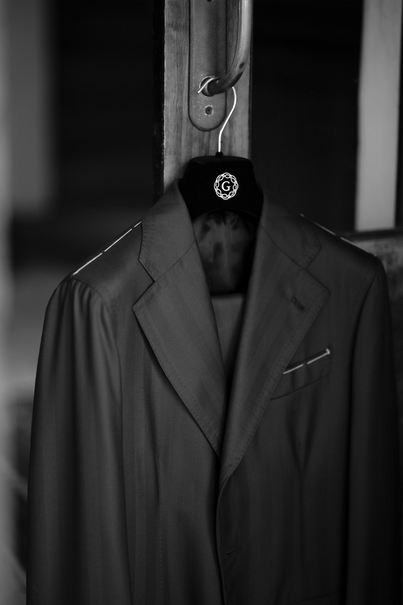 LUCA GRASSIA (ルカ グラシア) SALVATORE ENRICO (サルヴァトーレ エンリコ) サージウール シャドーストライプ スーツ NAVY (ネイビー) Made in italy (イタリア製) 2021秋冬 愛知 名古屋 Alto e Diritto altoediritto アルトエデリット