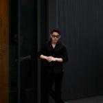 Massimo d'Augusto × cuervo bopoha (マッシモ ダウグスト × クエルボ ヴァローナ) リネンコットン ワンピースカラー シャツ BLACK (ブラック・10) made in italy (イタリア製) 2021 春夏新作 愛知 名古屋 Alto e Diritto altoediritto アルトエデリット