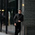 SAINT LAURENT (サンローラン) L01 MOTORCYCLE JACKET (モーターサイクルジャケット) ラムレザー ダブル ライダース ジャケット BLACK(ブラック) Made in italy (イタリア製)のイメージ