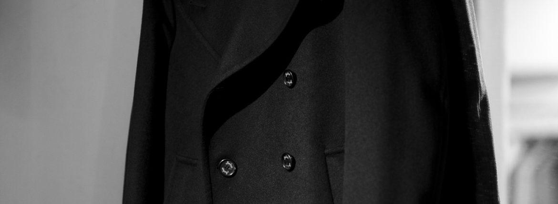Sealup (シーラップ) GENOVA CASHMERE (ジェノバ カシミア) Loropiana (ロロピアーナ) カシミヤストームシステム ロング Pコート ロング ピーコート BLACK (ブラック・36) Made in italy (イタリア製) 2021 秋冬 【Special Model】【ご予約開始】Alto e Diritto altoediritto アルトエデリット カシミヤPコート