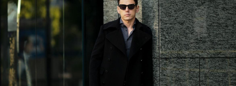 TAGLIATORE (タリアトーレ) AVIATOR Military Cashmere coat ミリタリー カシミア コート NERO (ブラック) Made in italy (イタリア製) 2021 秋冬 【ご予約受付中】Alto e Diritto altoediritto
