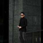 TAGLIATORE (タリアトーレ) PINO LERARIO (ピーノ レラリオ) Stretch Summer Wool Jacket サマーウール ストレッチ シングル ピークドラペル ジャケット BLACK (ブラック) Made in italy (イタリア製) 2021 春夏新作のイメージ