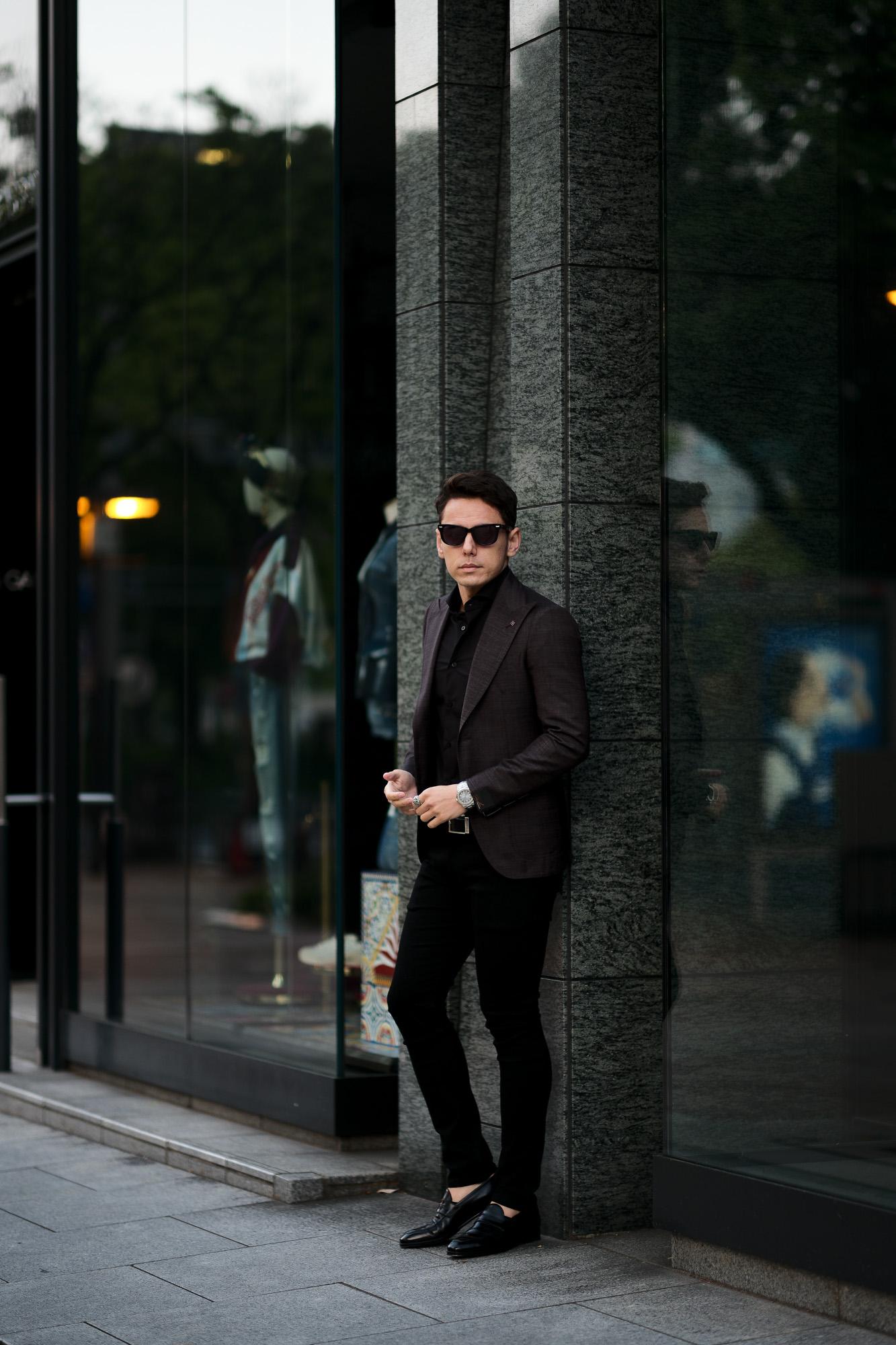 TAGLIATORE (タリアトーレ) PINO LERARIO (ピーノ レラリオ) Summer Wool Jacket サマーウール シングル ピークドラペル ジャケット Made in italy (イタリア製) WINE (ワイン) 2021 春夏 【ご予約受付中】愛知 名古屋 Alto e Diritto altoediritto アルトエデリット