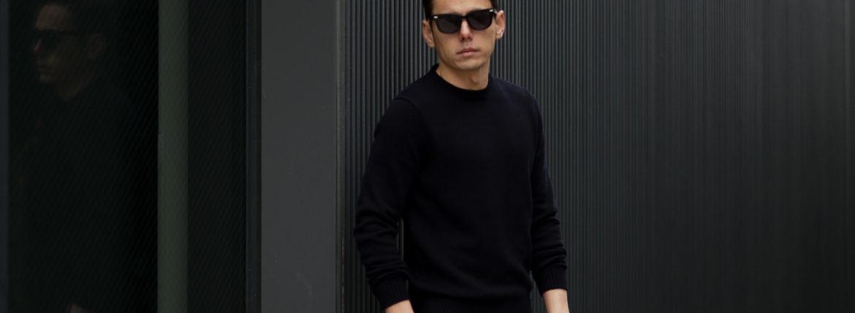 ZANONE(ザノーネ) Crew Neck Sweater (クルーネック セーター) リネンコットン ミドルゲージ サマー ニット セーター NAVY (ネイビー・Z1222) MADE IN ITALY(イタリア製) 2021 春夏新作 愛知 名古屋 Alto e Diritto altoediritto アルトエデリット