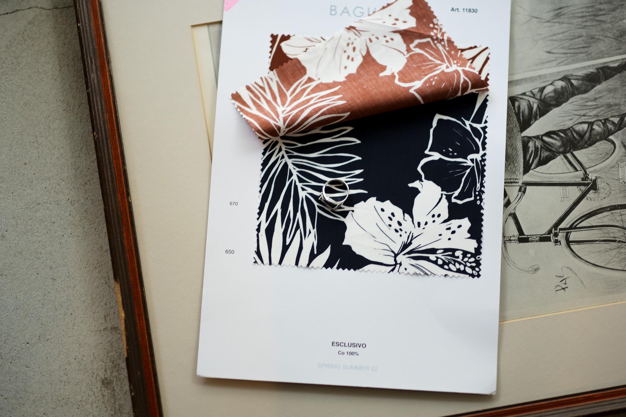 BAGUTTA(バグッタ) JOHNNY Art.11830 アロハシャツ NAVY(ネイビー・650) 2022 春夏 【ご予約開始】 愛知 名古屋 Alto e Diritto altoediritto アルトエデリット シャツ アロハ オープンカラーシャツ