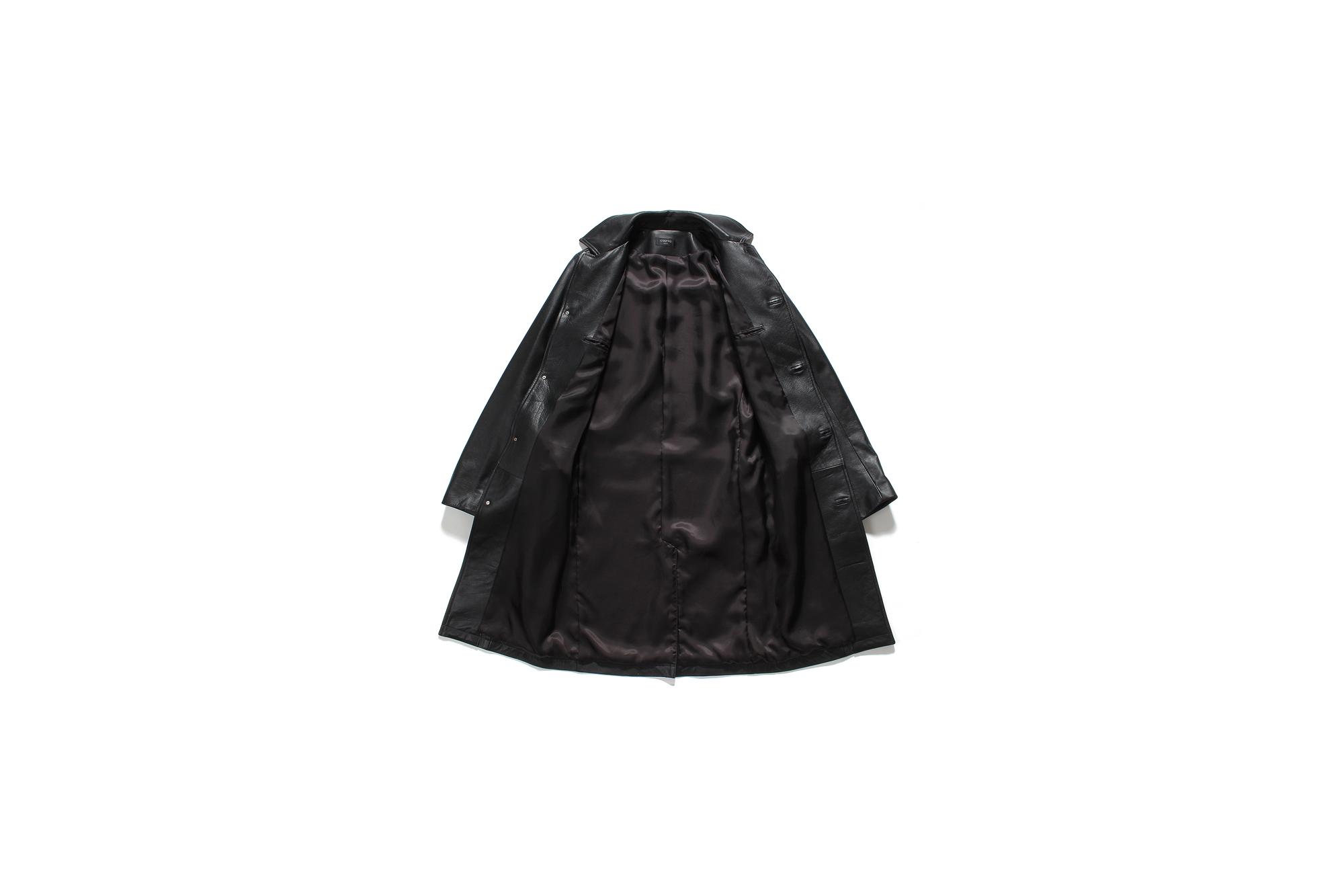 cuervo bopoha (クエルボ ヴァローナ) Satisfaction Leather Collection (サティスファクション レザー コレクション) Ferro (フェッロ) BUFFALO LEATHER (バッファロー レザー) レザー コート BLACK (ブラック) MADE IN JAPAN (日本製) 2021秋冬 愛知 名古屋 Alto e DIritto アルトエデリット altoediritto レザーコート