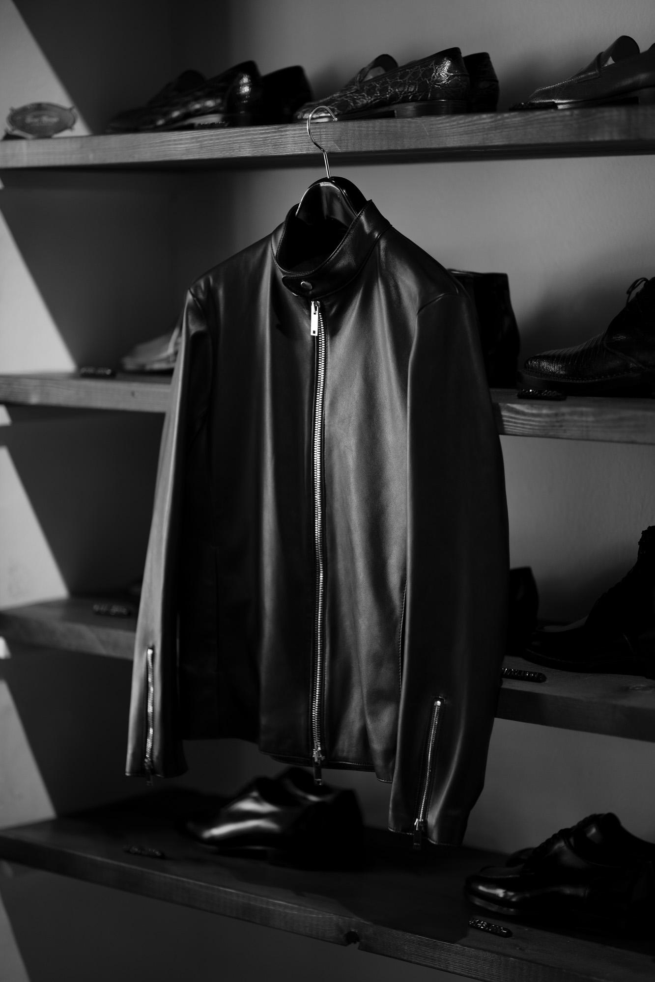 cuervo bopoha Satisfaction Leather Collection RICHARD LAMB LEATHER BLACK 2021 愛知 名古屋 Alto e Diritto altoediritto アルトエデリット シングルライダース レザージャケット ブラック cuervo bopoha (クエルボ ヴァローナ) Satisfaction Leather Collection (サティスファクション レザー コレクション) RICHARD (リチャード) LAMB LEATHER (ラムレザー) シングル ライダース ジャケット BLACK (ブラック) MADE IN JAPAN (日本製) 2021