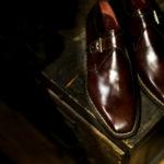 "ENZO BONAFE ""ART.3721"" Single Monk Strap Shoes MUSEUM CALF DARK BROWN 2021のイメージ"