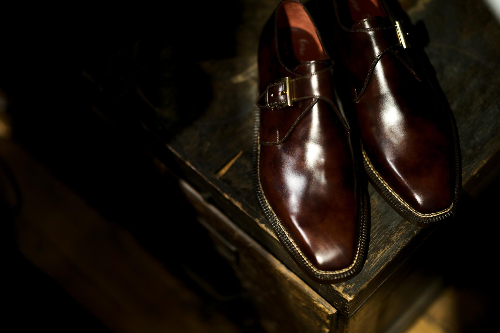 "ENZO BONAFE ""ART.3721"" Single Monk Strap Shoes MUSEUM CALF DARK BROWN 2021 エンツォボナフェ シングルモンクストラップシューズ ミュージアムカーフ ダークブラウン 愛知 名古屋 Alto e Diritto altoediritto アルトエデリット"
