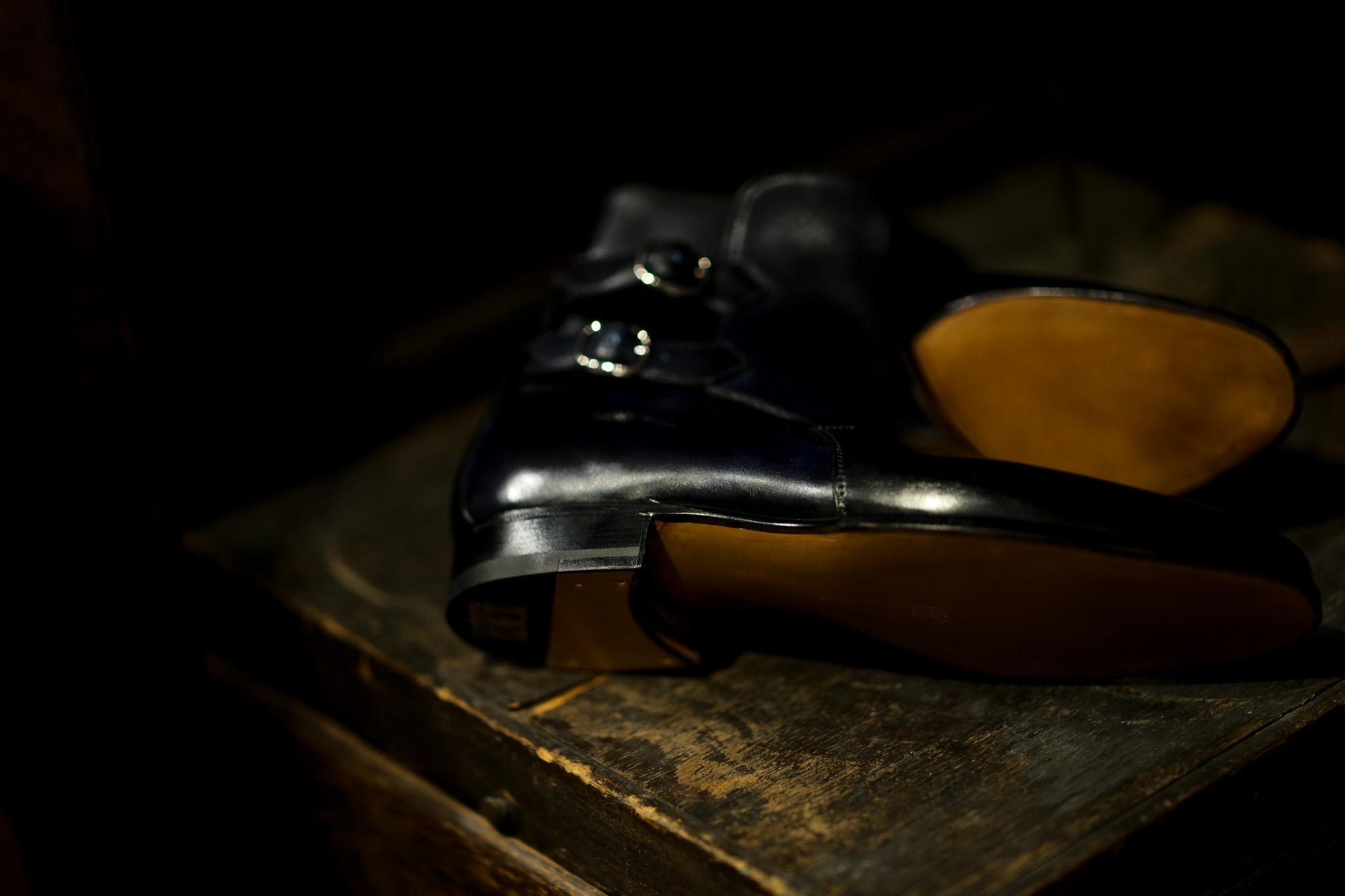 ENZO BONAFE(エンツォボナフェ) ART.3995 Double strap boot MUSEUM CALF ミュージアムカーフ ダブルストラップブーツ DEEP BLUE (ディープブルー) made in italy (イタリア製) 2021 愛知 名古屋 Alto e Diritto altoediritto アルトエデリット