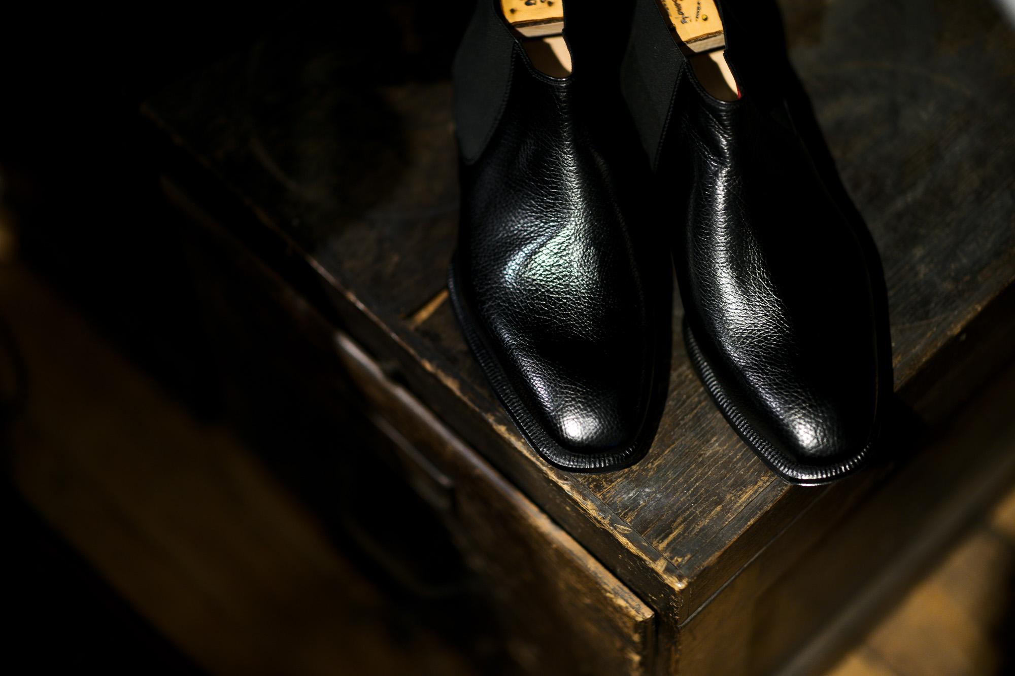 ENZO BONAFE ART.CARY GRANT III Side gore Boots LAMA LEATHER NERO 2021 愛知 名古屋 Alto e Diritto altoediritto アルトエデリット エンツォボナフェ ゲーリーグラント3 サイドゴアブーツ ラマレザー ブラック ドレスブーツ