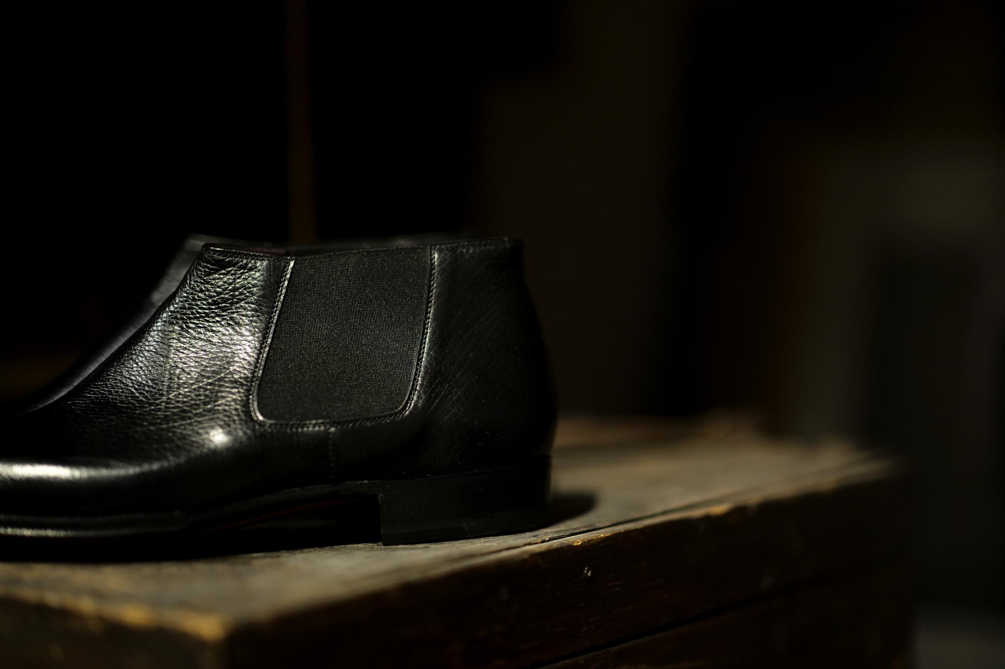 ENZO BONAFE (エンツォボナフェ) CARY GRANT III(ゲーリーグラント3) LAMA LEATHER(ラマレザー) Side gore Boots サイドゴアブーツ NERO(ブラック) made in italy (イタリア製) 2021 愛知 名古屋 Alto e Diritto altoediritto アルトエデリット