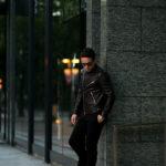 FIXER(フィクサー) F1(エフワン) DOUBLE RIDERS Cow Leather ダブルライダース ジャケット BLACK(ブラック) 【ご予約開始します】【2021.6.19(Sat)~2021.7.04(Mon)】愛知 名古屋 Alto e Diritto アルトエデリット ライダースジャケット レザージャケット ダブルレザー セミダブル 木村拓哉 キムタク キムタク着