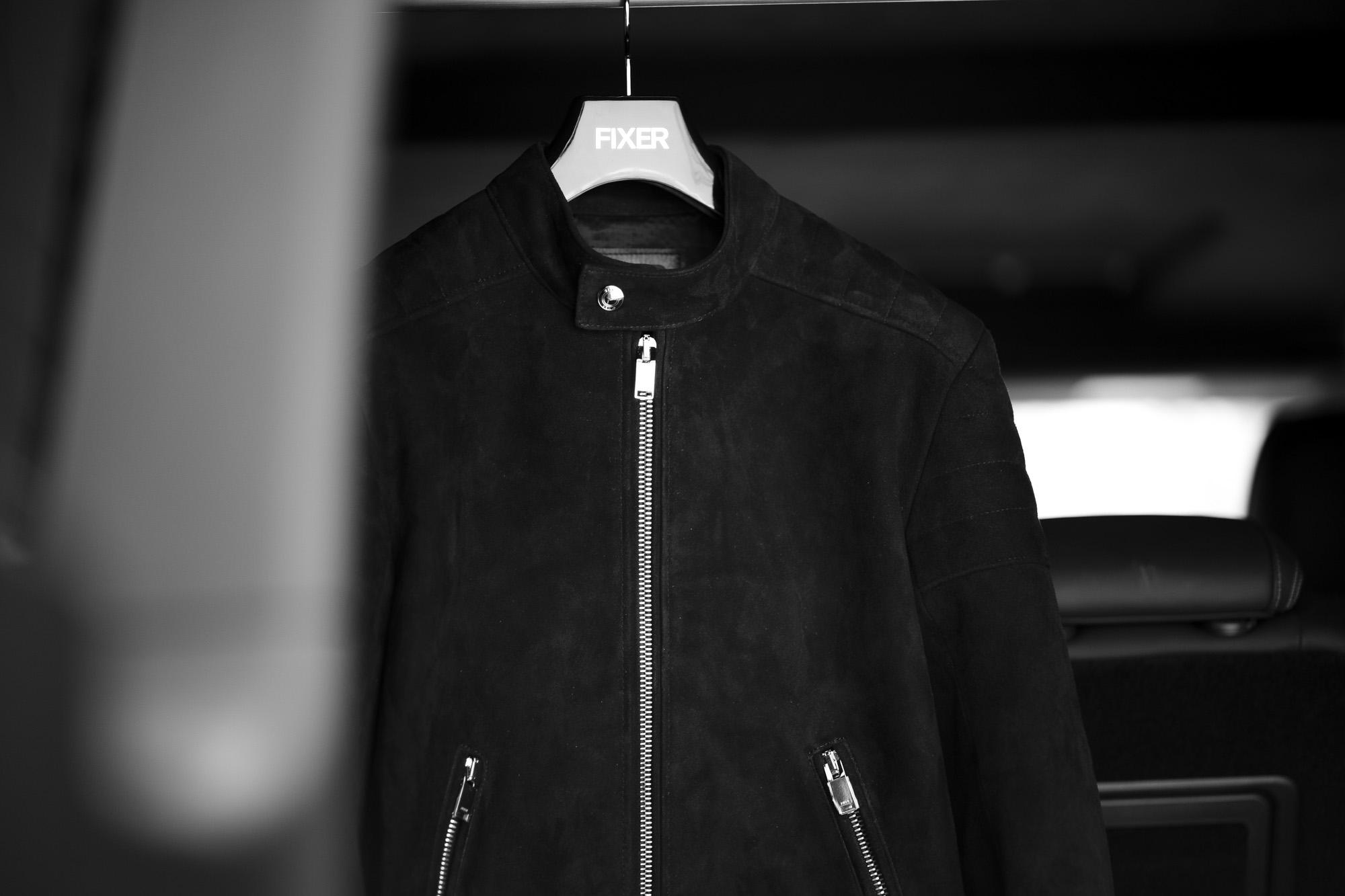"FIXER F2 SINGLE RIDERS ""Cashmere Suede Leather"" BLACK フィクサー エフツー シングルライダース カシミヤスエードレザー ブラック 愛知 名古屋 Alto e Diritto altoediritto アルトエデリット Coming soon"
