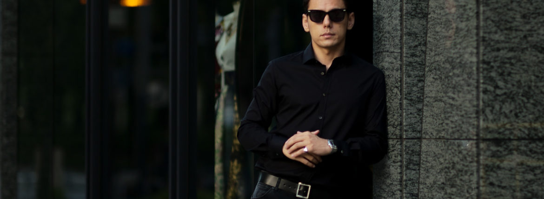FIXER (フィクサー) FST-01(エフエスティー01) Broad Dress Shirts ストレッチコットン ブロード シャツ BLACK (ブラック) 【ご予約受付中】【2021.7.19(Mon)~2021.8.08(Sun)】のイメージ