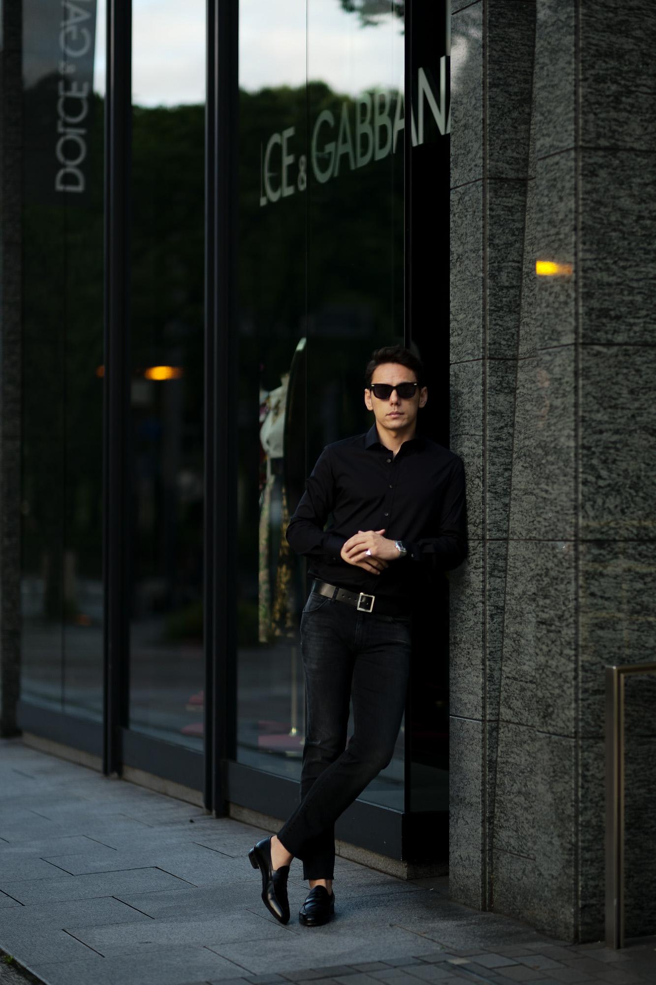 FIXER (フィクサー) FST-01 Broad Dress Shirts ストレッチコットン ブロード シャツ BLACK (ブラック) 【ご予約開始】愛知 名古屋 Alto e Diritto altoediritto アルトエデリット 黒シャツ ブラックシャツ