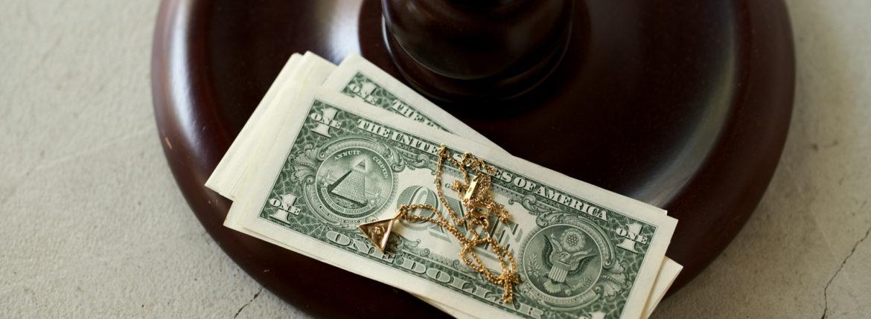 FIXER(フィクサー) ILLUMINATI EYES NECKLACE WHITE DIAMOND 18K GOLD SP イルミナティ アイズネックレス GOLD SP(ゴールド SP)のイメージ