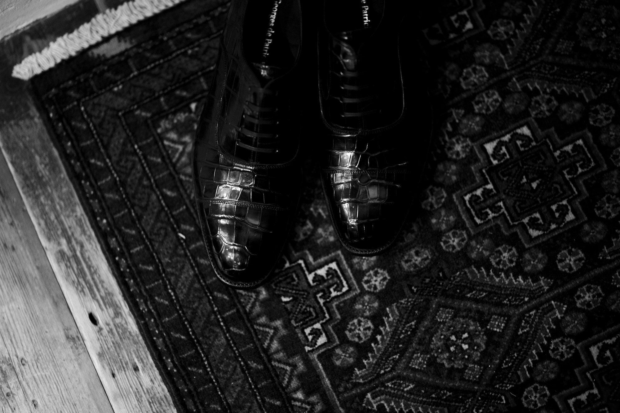 Georges de Patriciaジョルジュドパトリシア Zagato Crocodile ザガートクロコダイル 925 STERLING SILVER 925スターリングシルバー Crocodile クロコダイル エキゾチックレザー ストレートチップシューズ NOIR ブラック 2021 愛知 名古屋 Alto e Diritto アルトエデリット ドレスシューズ